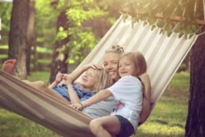 Family Hammock Stock Photo