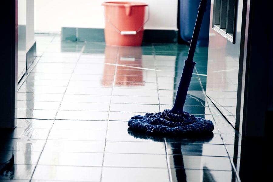 Mop Floor Stock Photo