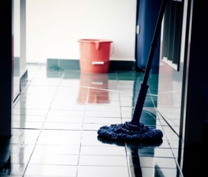 Mop Floor Stock Photo