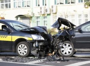 Head-on Car Collision Stock Photo