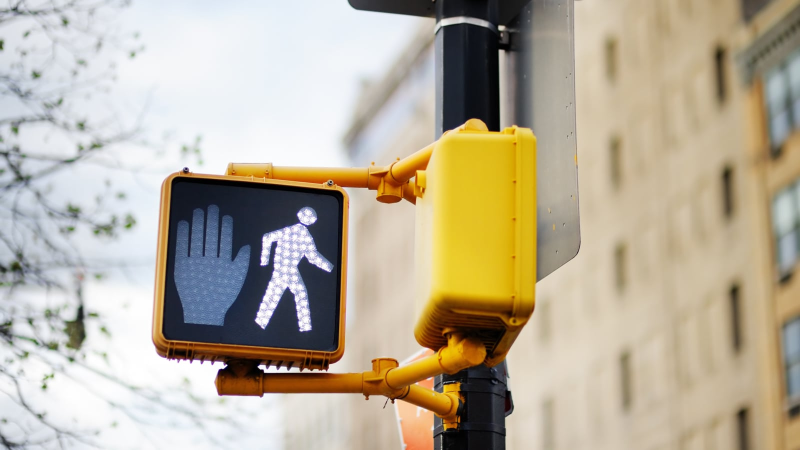 Pedestrian Traffic Sign Stock Photo