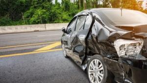 Car Side Damage Stock Photo
