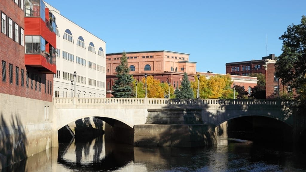 Downtown Bangor, Maine Stock Photo