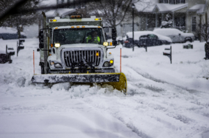 snowplow clearing streets of snow