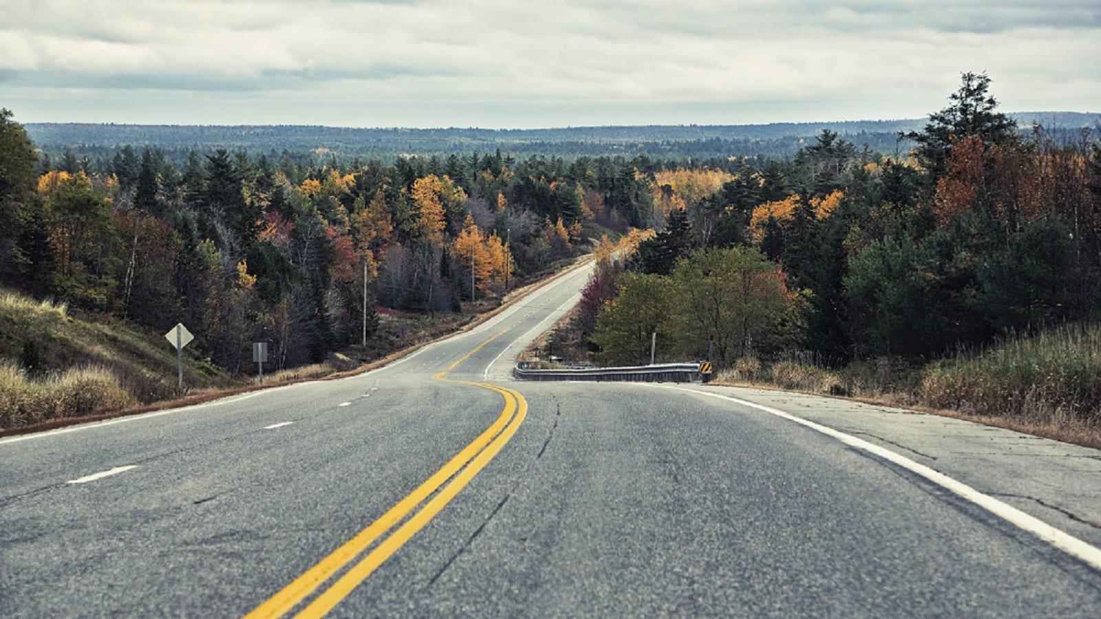 Rural Highway in Northeastern Maine