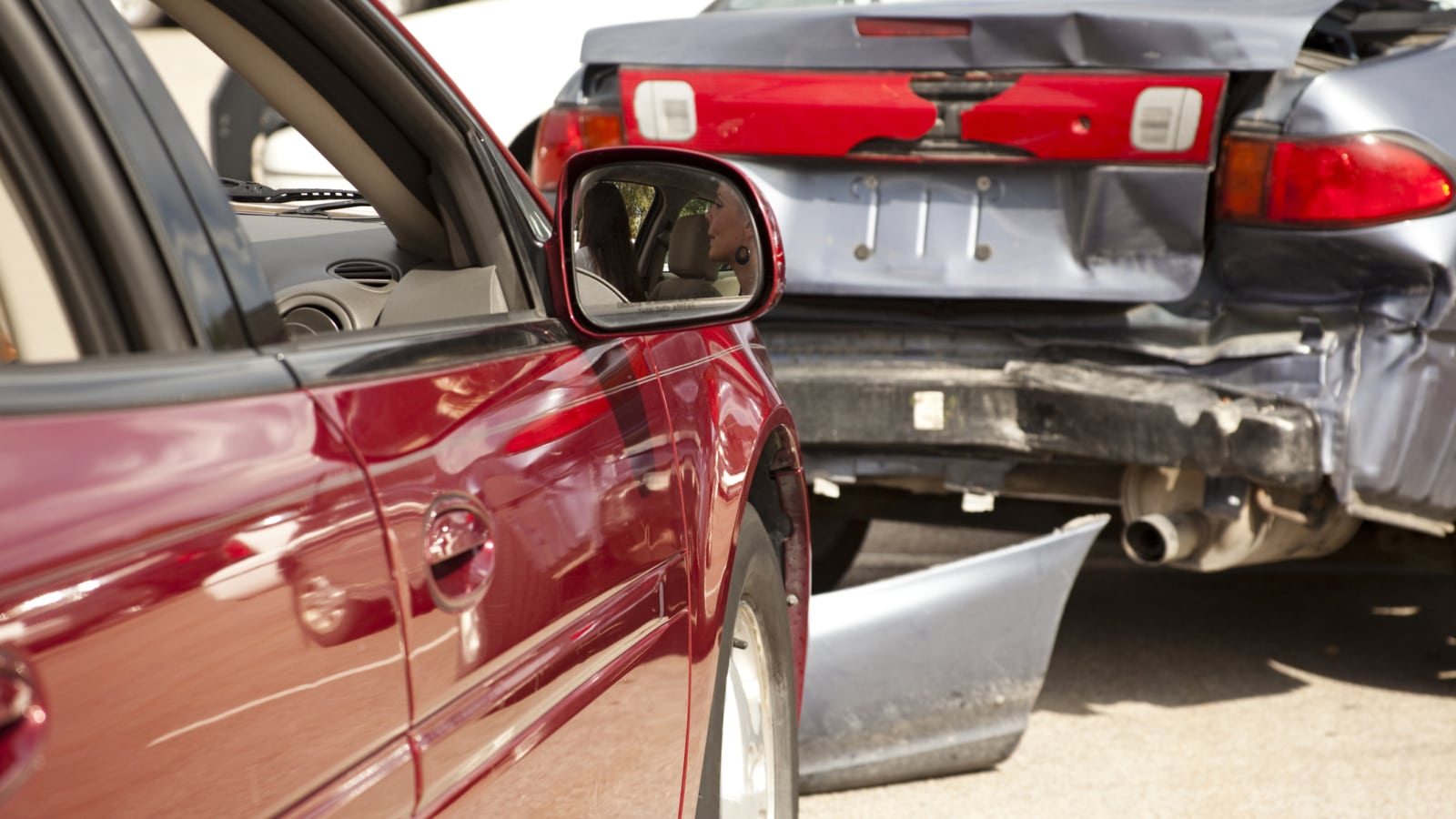 Rear End Accident Stock Photo