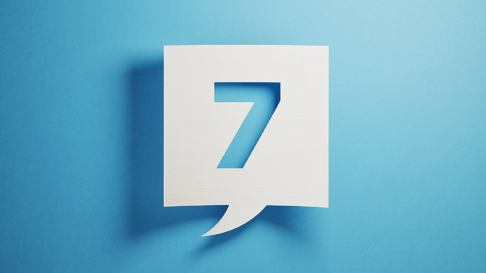 Animated Number 7 Stock Photo