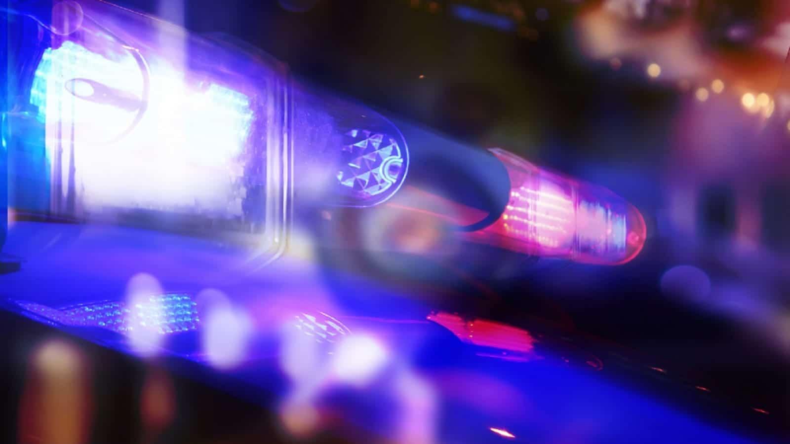 Police Cruiser Stock Photo